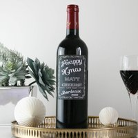 Personalised Bordeaux Christmas Wine Gift