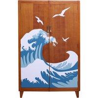 Mid Century Formica Wave Design Wardrobe