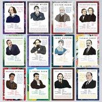 Set Of Twelve Classic Author Postcards