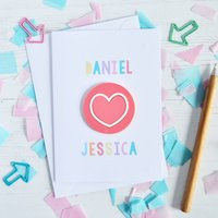Personalised Acrylic Love Heart Valentine's Card
