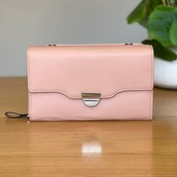 Clutch Bag With Strap In Pink
