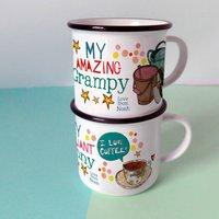 Personalised Best Grandma And Grandad Mugs
