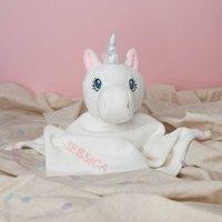 Personalised White Unicorn Comforter