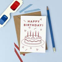 3D Retro Birthday Card