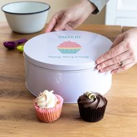 Personalised Baked By Cake Tin