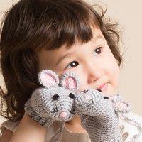 Hand Crochet Mouse Mittens