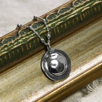 Sterling Silver Shield Necklace, Silver