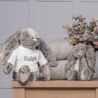Personalised Cottontail Bashful Bunny Soft Toy