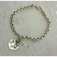 Sterling Silver Personalised Bracelet, Silver