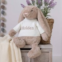 Personalised Bashful Beige Bunny Large Soft Toy