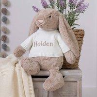 Personalised Bashful Beige Bunny Large Soft Toy