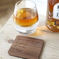 Personalised 'Daddy For' Whiskey Tumbler And Coaster