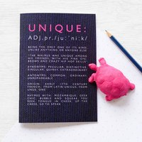 Funny Definition Of 'Unique' Notebook