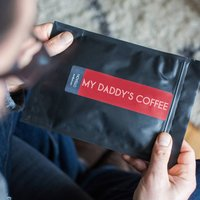 Dads Personalised Coffee Gift In Letterbox Packaging, Blue/Red/Teal Green