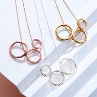 Personalised Triple Hoop Necklace