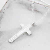 Personalised Maxi Cross Necklace