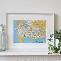 Illustrated Map Of Ibiza The White Isle, Spain