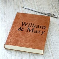 Luxury Leather Diary, 2020 Diary For Couples