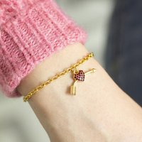 Valentine Heart And Arrow Charm Bracelet