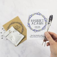 10 Lavender Wreath Seed Packet Memorial Gifts