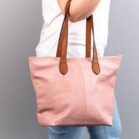 Personalised Initials Vegan Leather Zip Handbag