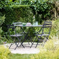 Large Bistro Set In Carbon