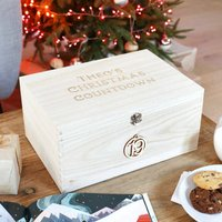 Personalised Wooden Christmas Countdown Advent Hamper