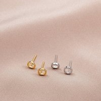 Sterling Silver Textured Circle Studs, Silver