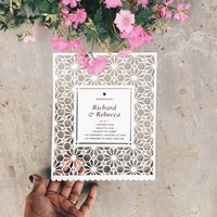 Personalised Wedding Anniversary Papercut, White/Red/Black