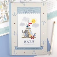 Personalised Nursery Rhyme And Record Book Blue