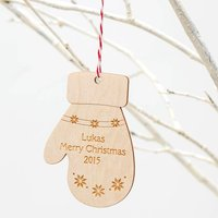 Mitten Personalised Christmas Ornament