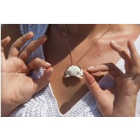 White Crab Necklace