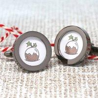 'Little Pudding' Christmas Cufflinks