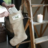 Rustic Personalised Christmas Stocking