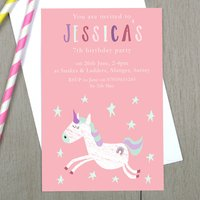 Personalised Unicorn Children's Party Invitations
