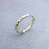 White Gold Vintage Style Engraved Wedding Ring, Gold