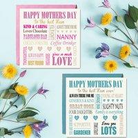 Personalised Words Mum Birthday Card