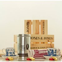 Espresso And Vintage Wedgwood Willow Gift Hamper Crate