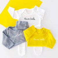 Personalised Simple Baby Sleepsuit