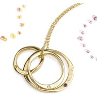 9ct Gold Three Infinity Rings With Gemstones, Gold