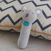 Hand Crochet Koala Easy Grip Baby Rattle