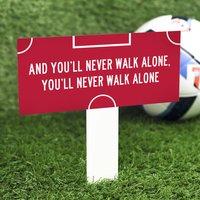 Football Fan Garden Stake