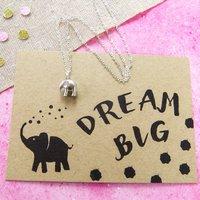 'Dream Big' Elephant Necklace