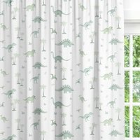 Green Dinosaur Blackout Lined Childrens Curtains