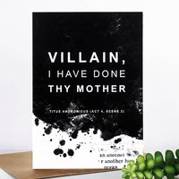 Shakespeare 'Villain' Insult Best Friend Card