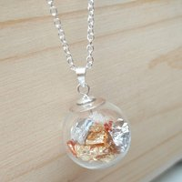 24 Carat Gold, Silver And Copper Necklace, Silver