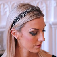 Spotty Guinea Fowl Feather Hair Band