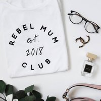 Personalised Rebel Mum Club Tshirt