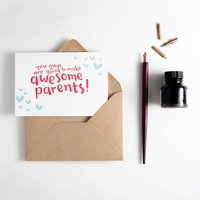 'You're Going To Make Awesome Parents' Letterpress Card