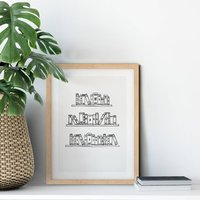 Personalised Family Print With Books
